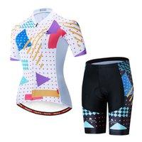 2021 Женская Милото Велосипед Корольная рукава Maillot Ciclismo Велоспорт Джерси Летние Дышащие Велоспорт Одежда Наборы Одежды
