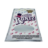 Clear window white runtz 3.5 g stand up pouch Mylar plastic Bags ready to ship zip lock edible snack packaging bag