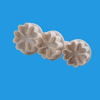3шт пластиковые инструменты Сердце цветок формы помадка торт украшение сахарного ремесла плунжер резак цветочные формы домашний торт инструменты