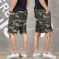 Summer Mens Baggy Multi Pocket Camo Shorts Cargo Loose Breec...