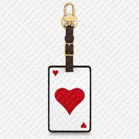 MP2912 Oyunu Başlangıç Kartında Bagaj Etiketi Tasarımcısı Bayan Çanta Parçaları Nametag Charm Pochette Accessoires Anahtarlık Seyahat Duffle Isı Damgalama Asma Kilit Çan Hepsi Tut
