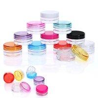 Lagerflaschen Gläser 50pc 5g Klare leere kosmetische Nachfüllbare Lotion Gesichtscreme Makeup-Jar-Topf-Kunststoffbehälter für Mini-Box
