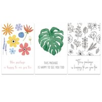 벽 스티커 50pcs / 팩 다채로운 꽃 잎 사각형이 패키지는 당신을 너무 많이 볼 수 있습니다. 자체 접착제가있는 인감 레이블