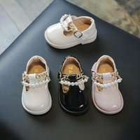 Baby Sneakers Kids Shoes Casual Girls Footwear Infant Princess Leather Pearl Moccasins Soft Spring Autumn Toddler Shoe B7841