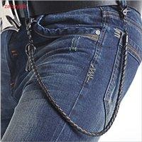 Zalzyywb Punk Jeans PU Cinturón de PU Aleación de punto Clavoración Moda DIY Cintura Accesorios Hombres Hip-Hop Street Pant Cadenas