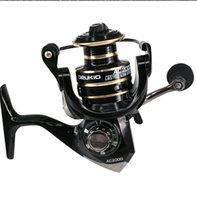 Spinning Pêche Reel 2000-9000 Série 8kg Max Drag Tron Metal Bobine Spin Spin Boat Rock Roue de poisson
