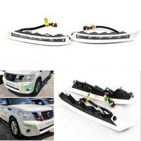자동 기술 PC 화이트 LED 낮 러닝 조명 Nissan Patrol 2012-2016 용 DRL 운전