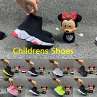 Дети 2021 Новая Обувь Дети Беговые Обувь Носки Обувь Мальчик Девушка Малыш Молодежь Тренер Подушка Подушка Поверхность Дышащие спорты Высокие Качество Кроссовки Boot EUR24-35