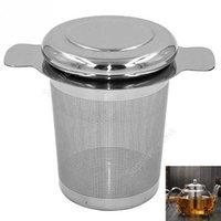 9 * 7,5 cm Straje de té de acero inoxidable con 2 asas de té y filtros de café Reutilizable malla de té infusers cesta DHU43