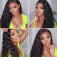 Alinybeauty Virgin Cuticle Aligned Human Hair Full Lace Wig 13x4 loose deep Wave Human Hair 180% 250% Density Lace Frontal Wig