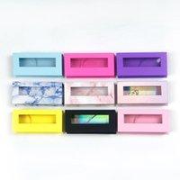 False Eyelashes Lash Boxes Wholesale Eyelash Packaging Empty Case With Clear Tray Faux 25mm Mink Lashes Print Logo Vendors