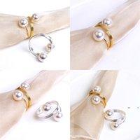 Nuovo tovagliolo di nozze anelli metallo portabicchieri per cene party hotel tavolo da sposa decorazione forniture tovaglioli fibbia ewb7745