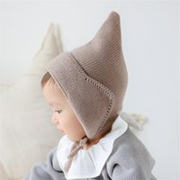 Caps & Hats Baby Toddler Hairball Winter Hat For Girls Boys Ball Kids Warm Crochet Steeple Witches Knitted Born Beanies