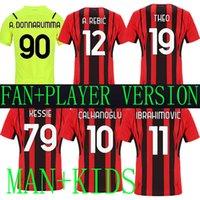 Mandzukic 9 21 22 AC Tercera alejada Versión de jugadores Jerseys de fútbol Milán 2021 # 11 2122 20 Ibrahimovic Paqueta Bennacer Rebic Romagnoli Men + Kids White Football Shirt