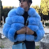Fur Coat Short Collar Faux Imitation Hair Long Sleeve Stitching Female Women's Wool & Blends