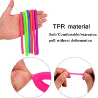10pcs Mini size Soft Rubber Sausage Noodle Elastic Rope Toys Stretch String Decompression Toy Stretchy Fidget Relief