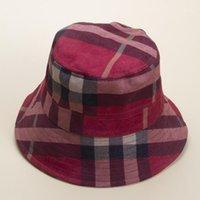 السيدات أنيقة قبعة الأزياء منقوشة دلو المرأة الصيف قبعات شريط القبعات بيع 1