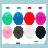 Other Housekeeping Organization Home & Gardensoft Sile Cleaning Pad Wash Face Facial Exfoliating Brush Spa Skin Scrub Cleanser Tool 8Color D