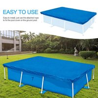 Pool & Accessories Swimming Cover 260x170 CM Rectangle Waterproof Frame Protector Cloth Mat Rainproof Dust