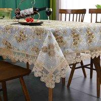 Bordado de laço de pano de luxo para panos de mesa de banquete de casamento panos capa de móveis casa toalha de mesa