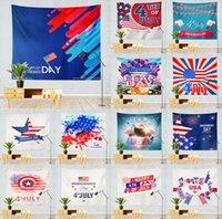Bandeira Bandeiras Wall Hanging Independence Dia Dolorada Fundo Quarto de julho Decoração de casa para sala 59 * 51 polegadas GWD6565