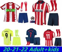 Adult Atletico Soccer Madrid Adulto + Kid Kit Jerseys Home Joao Felix Saul Camisetas de fútbol Suarez Correa Diego Costa 20 21 Camicia da calcio
