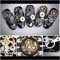 DIY Art Nail Art Decorations Klistermärke Vacker tid Gear Hjul Steampunk Vindmaskin Nail Art Decoration Alloy Patch Eqluj P5HQE