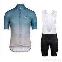 Rapha Team Cycling Jersey Set Set Bici Maniche corte Shirt Bib / Pantaloncini Suit Estate Abbigliamento da corsa da uomo Ropa Ciclismo Hombre Y21032405