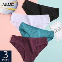 3 unids / lote algodón bragas de las mujeres conjuntos de ropa interior calzoncillos sin fisuras de baja altura mujer sexy confort calzoncillos transpirable lencería