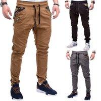 Hommes camouflage cargo pantalon mode mode odient tendance épissure hip hop crayon pantalon printemps mâle cordon de skateboard décontracté pantalon mince