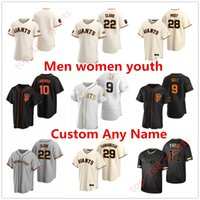 San Francisco 2021 Giants Buster Posey Бейсбол Джерси Брэндон Кроуфорд Кевин Столр Yastrzemski Longoria Reew Мужчины Женщины Молодежь