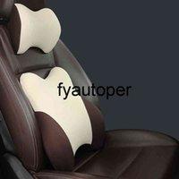 Antibacterial Fabric Car Headrest Pillow Auto Seat Head Support Car Lumbar Pillow Ergonomic Design Slow Rebound Headrest Pillow