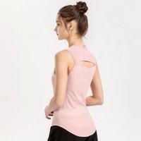 Lulu Yoga Spor Yelek Göğüs Yastık Tankları ile T-Shirt Bahar VFU Spor Tops Açık Giyim Fitness Suit Tank Spor Kadın İç Giyim W20B #