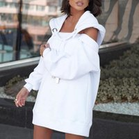 Women's Sweatshirts Oversized Long Sleeve Personality Loose Casual Dress Fashion Atmosphere Round Neck Simple Short Dresses