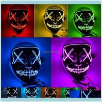 Festive Home & Gardenhalloween Led Light Up Party Masks The Purge Election Year Great Funny Mask Festival Cosplay Costume Supplies Glow In D