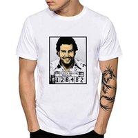 Pablo Escobar chamando homens camisetas Plata o plomo eláticas verão camiseta pop art narcos colombia impressão tees camisa yh118soccer jersey