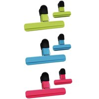 Large Chip Bag Clips Plastic Heavy Duty Air Tight Seal Grip Assorted Colors For Coffee Potato And Bags