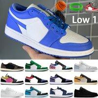 2021 Bajo 1 1s Zapatos de baloncesto para hombre UNC OG SP Travis Scotts Paris Galaxy Triple Negro Blanco Hombres Mujeres Zapatillas de deporte Entrenadores