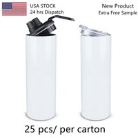 24 hrs dispatch USA stock 25pcs per carton new design stainless steel coffee sublimation travel mug blank sublimation 20 oz tumblers