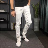 Tasarım Katı Klasik Stil Tasarımcı Kot Moda Şerit Fit Varış Pantolon Sıkıntılı Su Elmas Zebra Çizgili En Kaliteli Boyutu 28-36