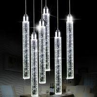 Pendelleuchten Home Deco 1-6 PC Bubble Kristall Lampe LED Streifen Bar Küche Beleuchtung Lüster de Cristal zum Esszimmer Wohnzimmer