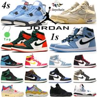Nike Air Jordan 1 Scarpe da basket Hyper Royal University Blue Travis Scott X 1S Mens Jumpman 4s Sail Silver Toe Black Cat Men Sport Scarpa Scarpa Donne Sneakers Scarpe da ginnastica