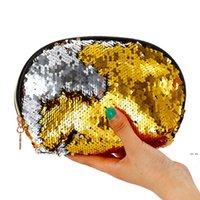 Kosmetische Aufbewahrungstasche Frauen Muschelform Pailletten Glitter Reißverschluss Brieftasche Meerjungfrau Münze Geldbörsen Handtaschen Abend Party Makeup Taschen HWE5456