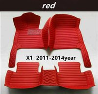 FOR BMW X1 2011-2014year Custom Car Splicing Floor Mats Waterproof Leather Wear-resistant Non-toxic Tasteless and Environmentally Friendly Foot Mats