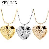 Мода любовь сердца медальёное ожерелье для женщин мужчины Openable PO кадр глянцевый семейный домашний Pet Picture Gifts Chokers