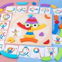 Desarrollo de niños desarrollo creativo edificio y montaje grandes juguetes niños educación montessori cumpleaños arco iris intelectual temprano gi qstr
