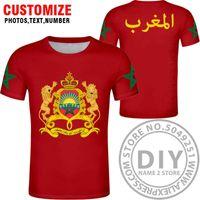 모로코 국기 티셔츠, 모로코 사람들의 티셔츠, 패션 민족 스타일 캐주얼 스포츠 하라주쿠 느슨한 티셔츠 x0602