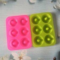 Moldes de cozimento de resina epóxi Silicone donut molde circular multi cores resistências de alta temperatura molde biscoito bolo moldes 3 9 jest