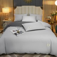 Bedding Sets Japanese Luxury Solid Set Queen Size Bed Comfortable Sheet King Duvet Cover Four Piece Suit Bedroom Decoration