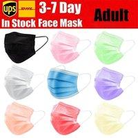Venda quente Colorido colorido preto rosa face máscara mascherine hick máscaras de 3 camadas com lenços para salão de beleza, uso em casa Atacadojipm